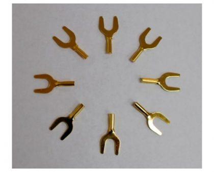 Conectores de espada dorados Accumac