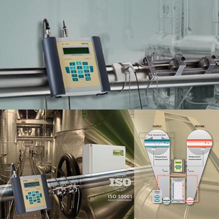 Soluciones de medición de flujo de aire comprimido y de energía térmica: Flexim