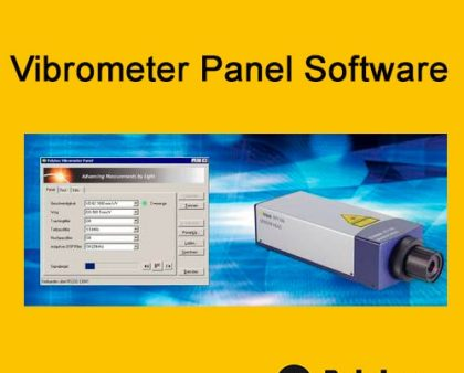Software Vibrometer Panel de Polytec