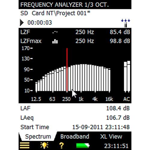 Software para análisis de frecuencia BZ-7131 y BZ-7132 Bruel & Kjaer