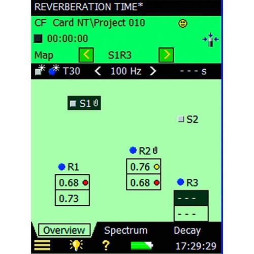 Aplicación de tiempo de reverberación BZ-7227 Bruel & Kjaer