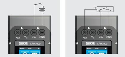 Prueba de interruptores con un suministro de tensión externo