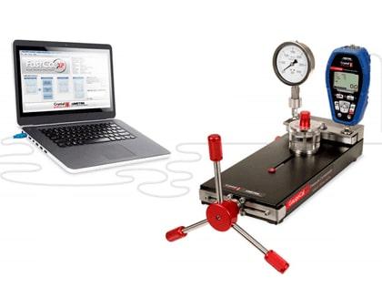 Balanza de peso muertos Vs Calibrador de presión digital