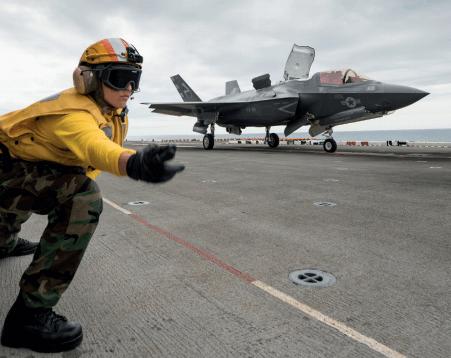 Pruebas de vibración y acústica en aviones de combate de EUA