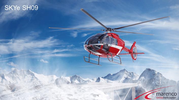Un helicóptero en el banco de pruebas de HBM