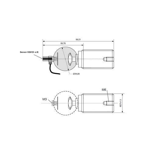 Sensor de ruido estructura borne Bruel & Kjaer
